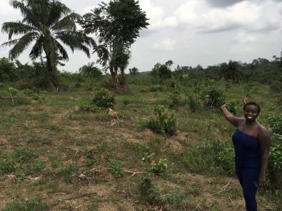 Lily visit on the land in Ganta
