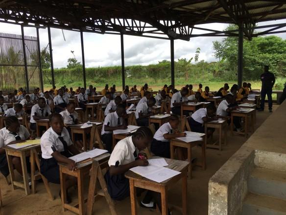 Students are national examination hall