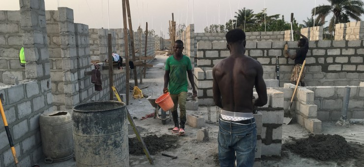 Brick layers at work -2-26-2020